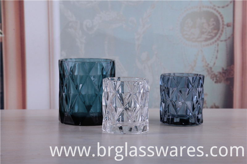 Diamond Candle Glass Jar for Candle Making