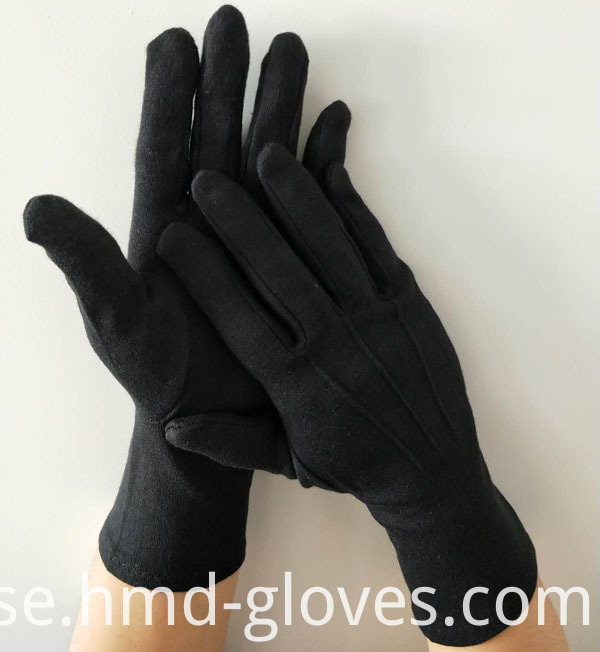 Black Ceremonial Cotton Gloves