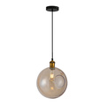 Modern globe glass flower pendant light