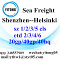 Shenzhen Sea Freight Shipping Services to Helsinki