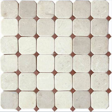 marble mosaic in hexagon