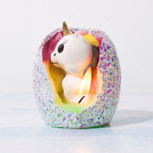 Discount Price Pet Film for Bear Shape Animal Candles New Product Hatching Unicorn Candle export to Italy Suppliers