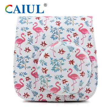 Soft PU Fuji Flamingo Instax Camera Bag