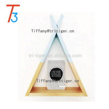 Home over the wall mounted triangle floating shelf