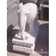 Wholesale Price for Stone Owl Statue White marble elephant statue supply to Germany Manufacturer