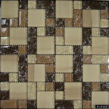 Factory source for Arch Shaped Cracked Mosaic Beige Size Mixed Glass Mosaic Tile supply to Bulgaria Importers