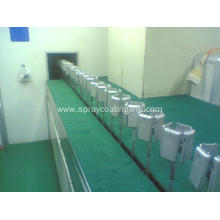 spray paint coating line