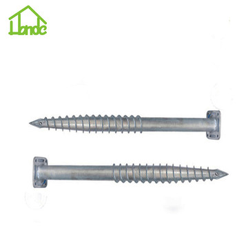 Hot galvanized Q235 ground screws