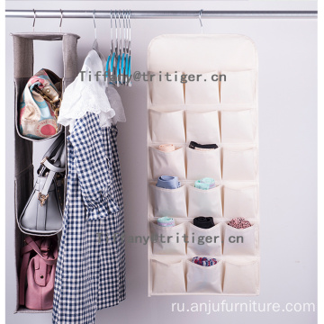 36 pockets Double Sided Large oxford Hanging underwear Organizer With Pockets