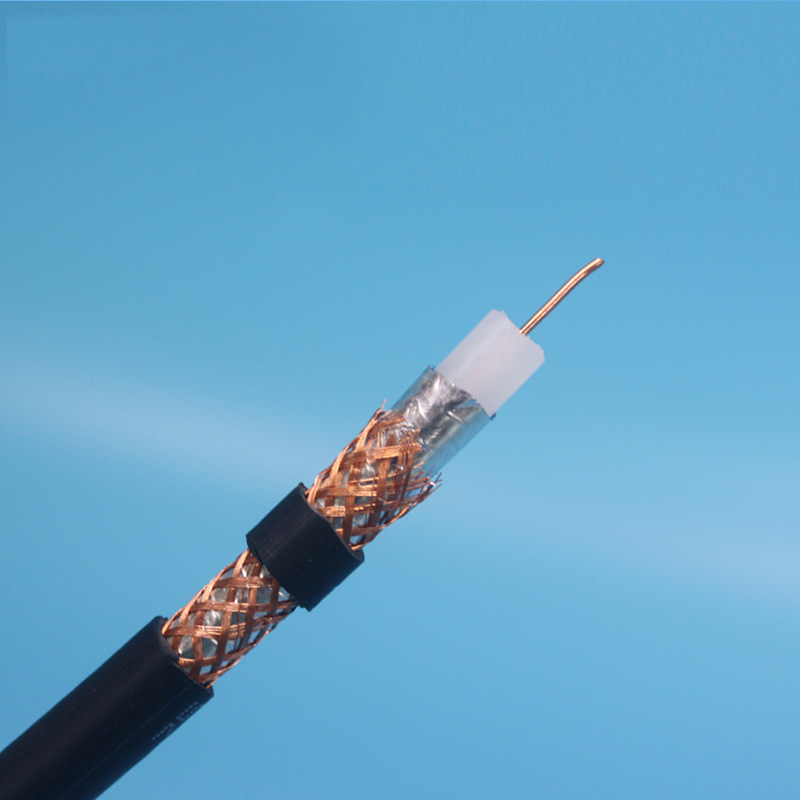 Solid polyethylene insulated PVC sheathed RF coaxial cable