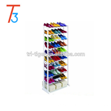 10 tiers 30 Pair mental Shoe Rack Space Saving Shoe Cabinet Storage Tower Organizer