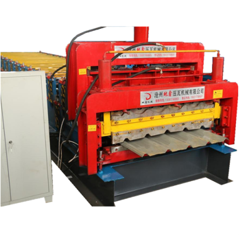Glazed roofing tile and trapezoidal roll forming machine