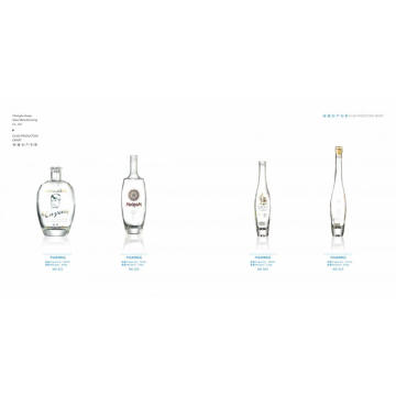 Screen printing bottle clear glass liquor bottle
