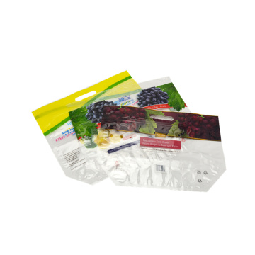 Flexible Print Fruit Packaging Bag With Handle