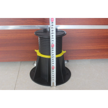 Wood stone support plastic pedestal