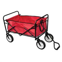 Folding Garden Cart Wheeled Trolley With Pull Handle