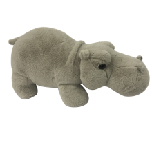 Plush Hippo Grey Toy