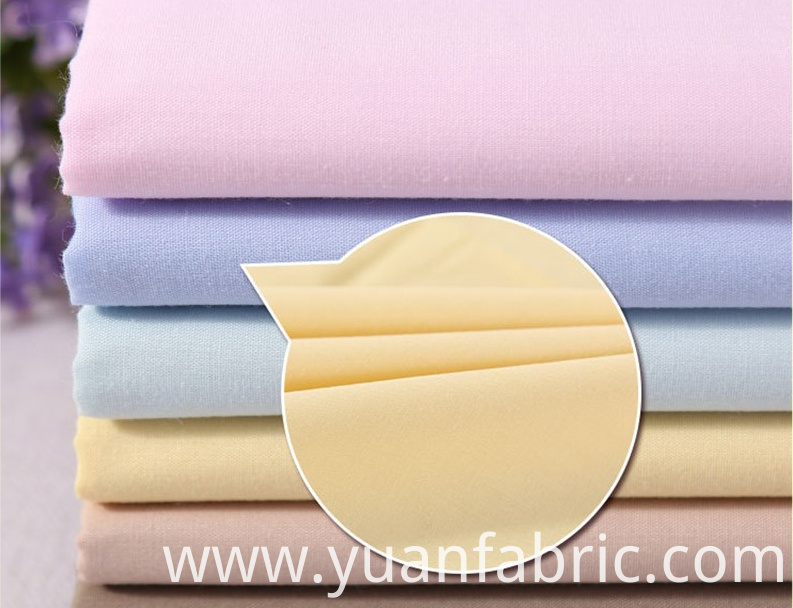 146tdyed Cotton Polyester Blend Woven Fabric For Dresses