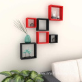 wood square wall cube shelves