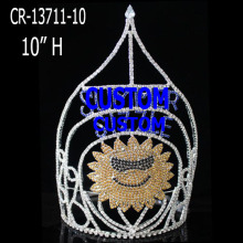 Wholesale Custom Rhinestone Sunflower Pageant Crown