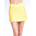 Yellow White Polka-Dot Tennis Skir