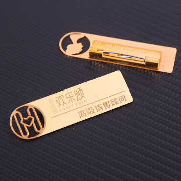 Metal badge for hotel