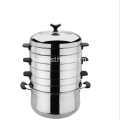 Double Bottom Stainless Steel Steam Pot