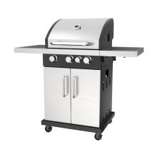 Three Burner Gas Grill With Side Burner