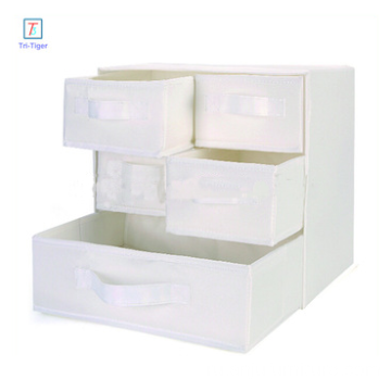 3 Shelf 5 Drawer Underwear Socks Sundries Folding Fabric Drawer Foldable Bra Storage Box