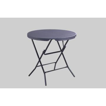 plastic picnic wedding round table with Rattan Design
