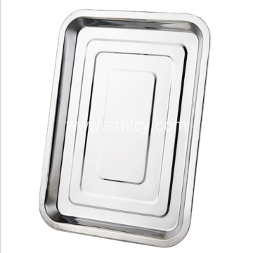 Stainless steel thickened square plate for barbecue
