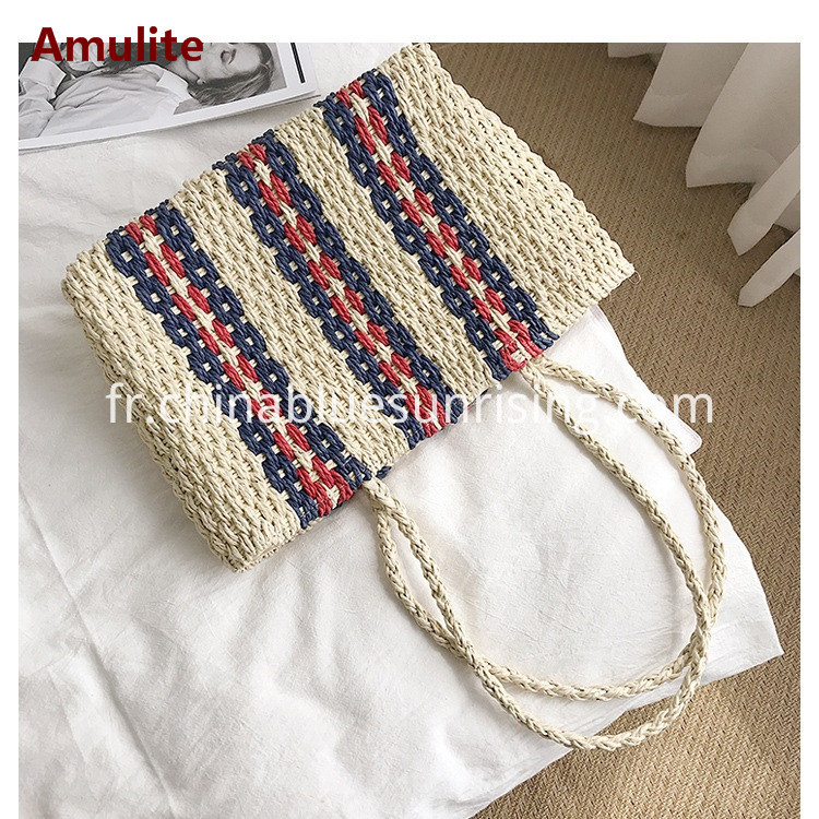 Straw Large Capacity Women Bag