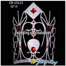 Fashion Hair Jewelry 12 Inch Crystal Pageant Crowns