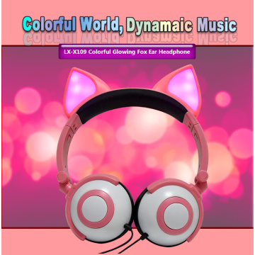 Leading for Fox Headphones Cute Girls Party Fox Ears LED Fancy Headphone export to Syrian Arab Republic Supplier