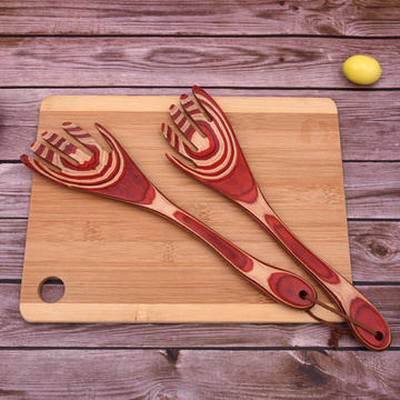 2 PCS Pakka Wood Fork Sets