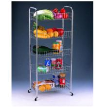 Factory Price for Plastic Compound Cart 5 Tier Storage Trolley export to Poland Manufacturer