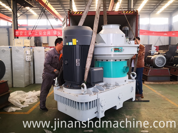 Installation of biomass granulator