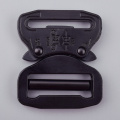 38mm Heavy Duty 18KN Steel Black Electrophoresis Tactical Cobra Belt Buckle For Military
