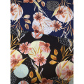 Dots Flower Rayon Challis 30S Air-jet Printing Fabric