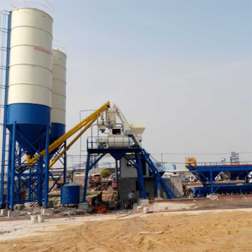 Stationary type Uzbekistan wet mix concrete batching plant