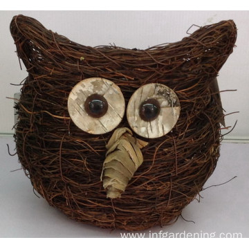 Owl vine decorative basket