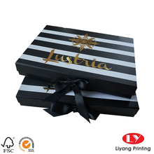 Small paperboard folding packaging gift box