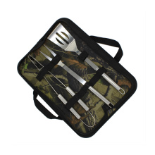 Stainless Steel BBQ Tools Set With Nylon Bag