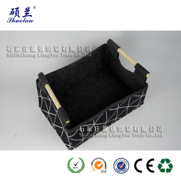 Customized design 100% polyester felt storage bag basket