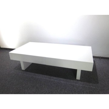 Factory made hot-sale for Living Room Coffee Table Modern white high gloss extension coffee table supply to Portugal Exporter