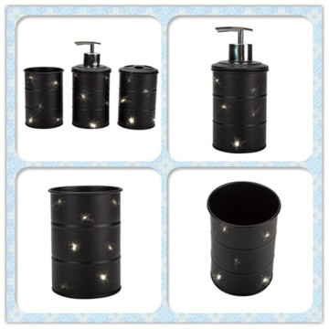 Matte Black Dispenser with Steel Pump
