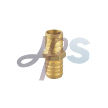 Brass straight flare coupling