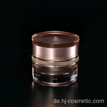 High-grade round flower cosmetics  acrylic bottle/jars with good price