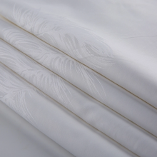 Well-designed for Organic Cotton Jacquard Fabric White Organic Cotton Jacquard Fabric for Hotel export to Netherlands Manufacturer