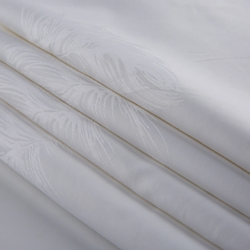 Good Quality for Organic Cotton Jacquard Dyed Fabric White Organic Cotton Jacquard Fabric for Hotel supply to Portugal Exporter